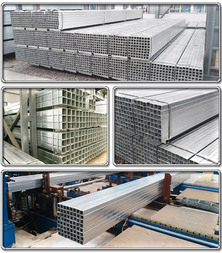 ASTM A500 , EN 10219 Galvanized Square Steel Tubing And Rectangular Tubing Pipe