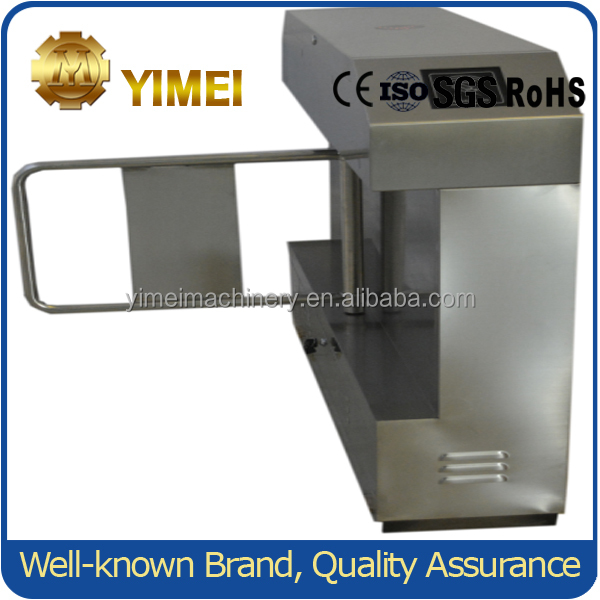 Automatic electric Pedestrian Swing turnstile YM118 with fingerprint attendance system