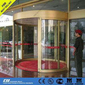 Automatic curved sliding door, safety glass, aluminum frame