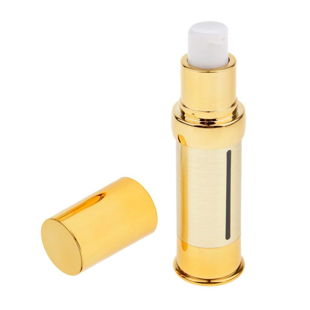 Baoblaze Airless Pump Bottles, Plastic, Refillable, Gold, 5/10/15/30 ml 4 Size - 15 ml