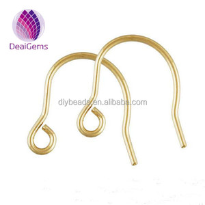 Wholesale 14k gold filled brass earring hooks for earring making