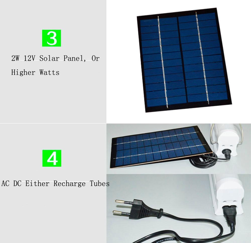 Solar Fluorescent Tube Emergency Light Rechargeable