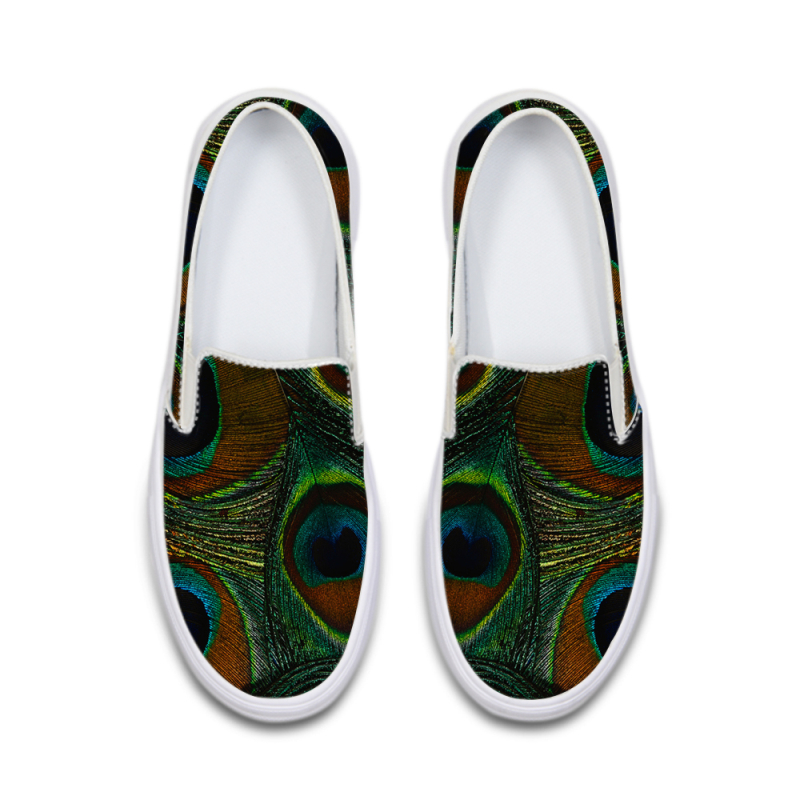 Create your own fashionable 3d feather printed design plain canvas <strong>shoes</strong> with universe pattern