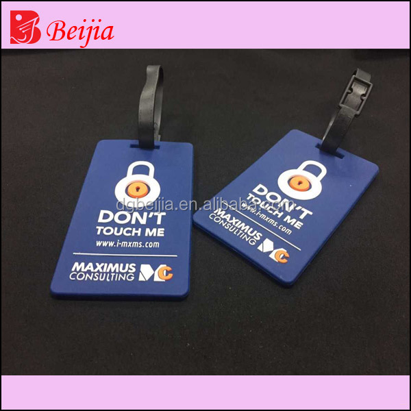 Custom 3D soft silicone luggage tag/ rubber bag tag/ pvc luggage tag custom airplane travel ID pvc luggage tag