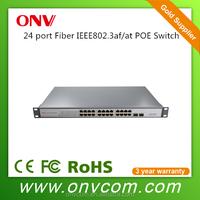24 port gigabit 802.3at 30W POE switch power budget 650W