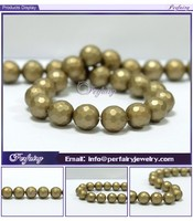 Wholesale 10mm Popular Shell Pearl Round Loose Faceted Pearls in Oyster Shell
