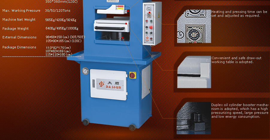 Dashun Ds-609-50t/-30t/-120c Perforating And Embossing Machine ...