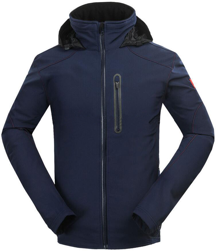 Waterproof Breathable Nylon Ski Jacket Windproof Snowproof Hoody Ski Jacket Outdoor Active Ski Coat