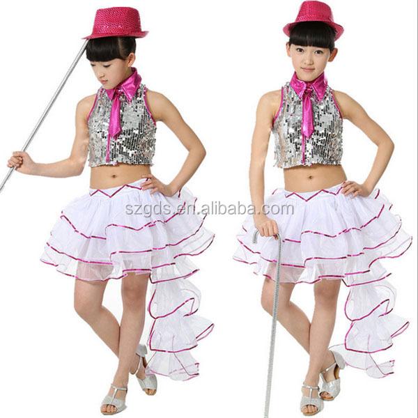 Último diseño del arco muchacha de los niños de baile latino vestido de  lentejuelas trajes de d87d2ac3103
