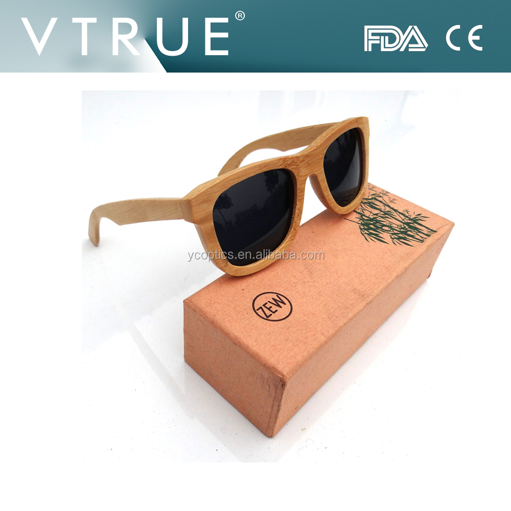 Pure natural polarized bamboo sunglasses wholesales ,one by one quality checking