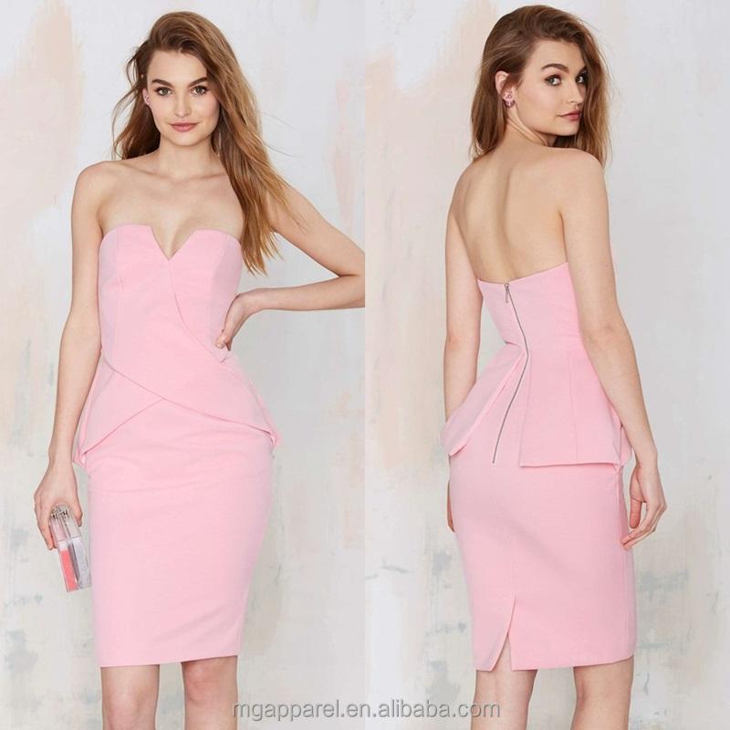 Catálogo de fabricantes de Vestido Rosa Ajustado de alta calidad y ...