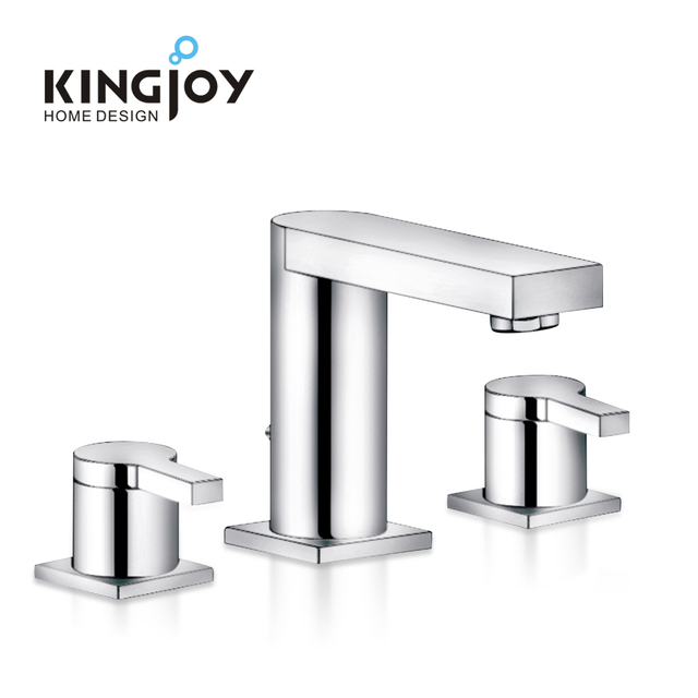 Perfect Design Sanitary Fitting Brass Bibcock Hand Hot Cold Faucet Sink Tap 3 Holes Basin Mixer