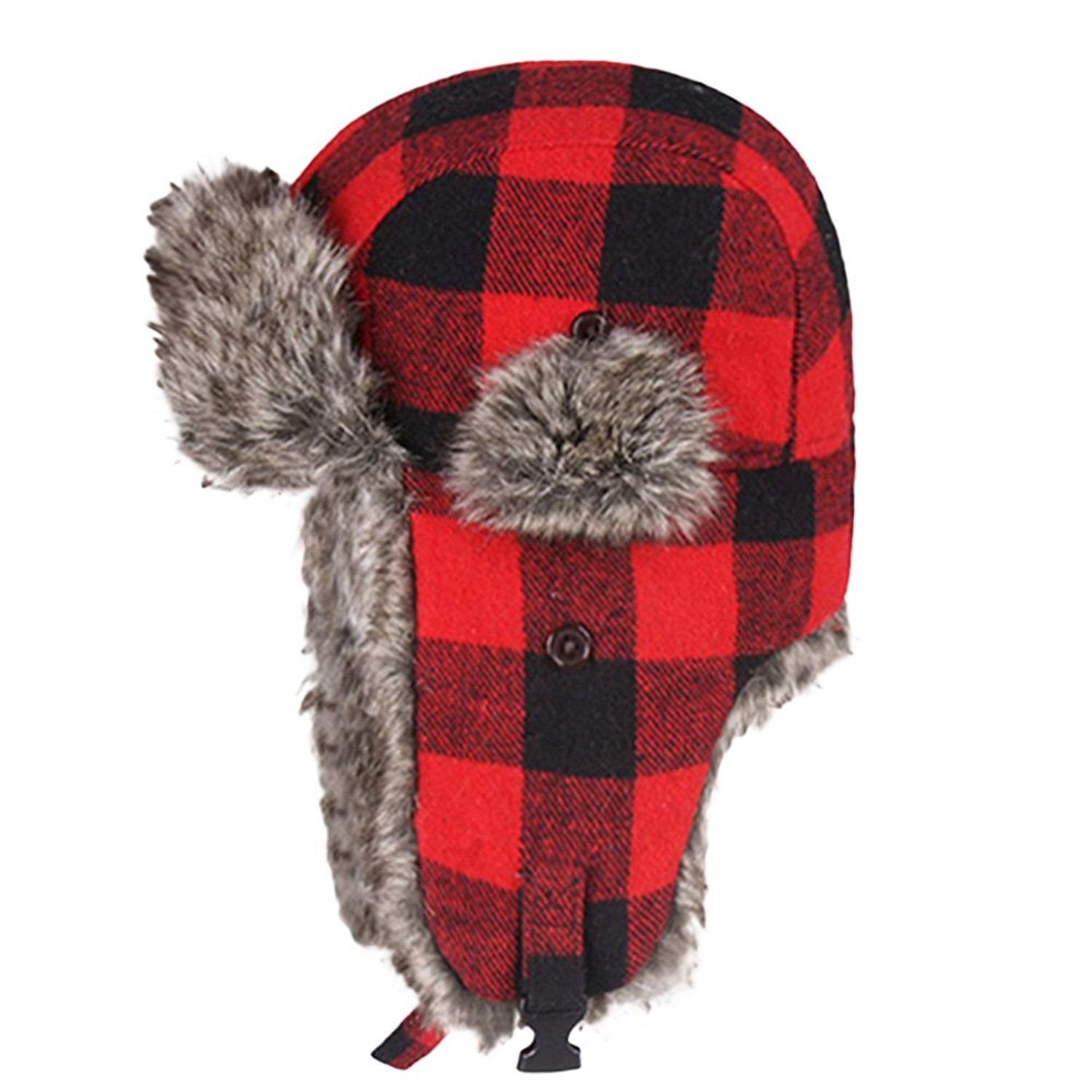 3d85be2e231 Get Quotations · Bangni Winter Trooper Trapper Hunting Faux Fur Hat Ear  Flaps Aviator Snow Cap