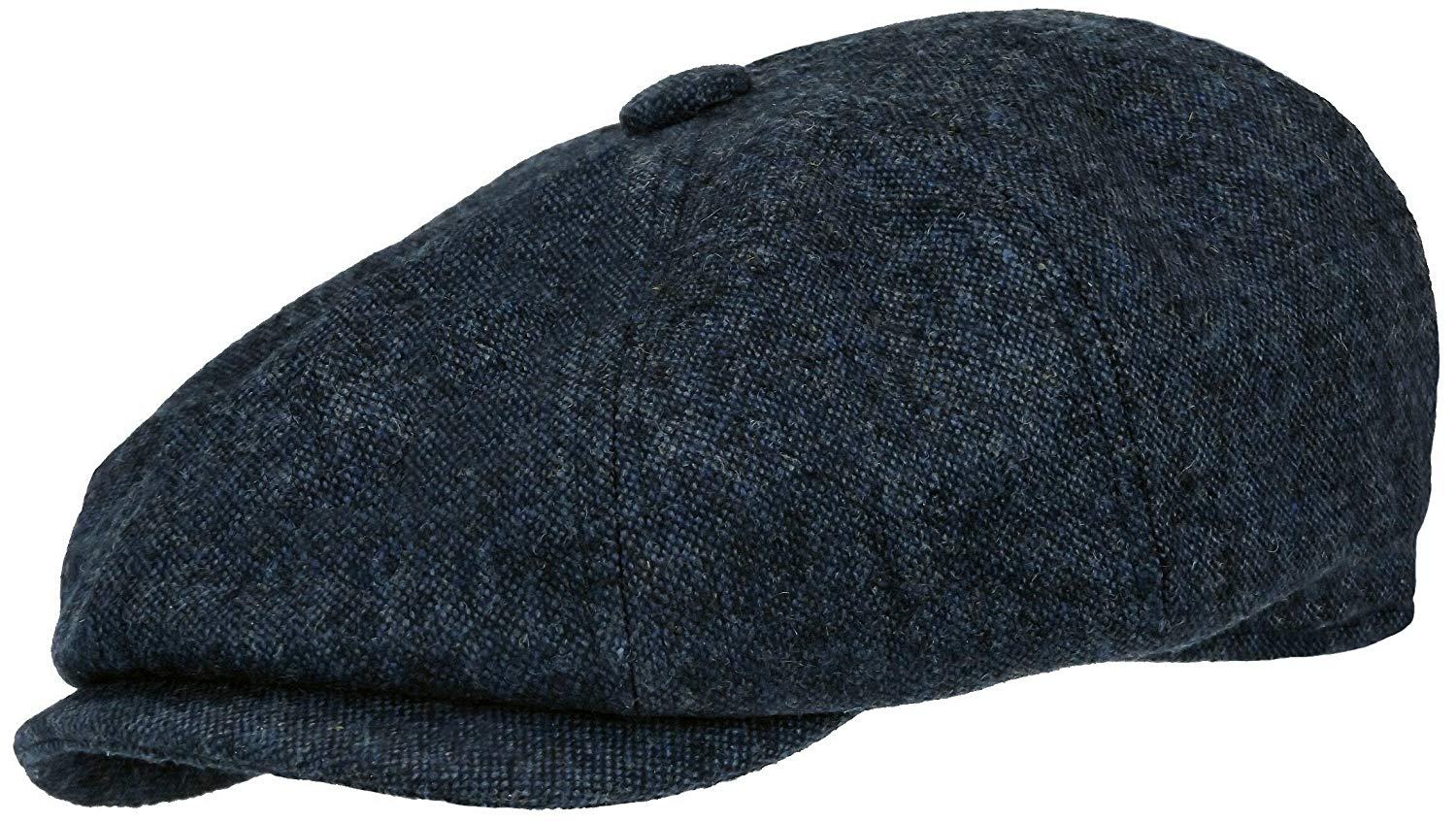 6c388bfbf15 Get Quotations · Rooster Cobalt Wool Tweed Newsboy Gatsby Cap Ivy Golf Hat  Driving Cabbie Gray