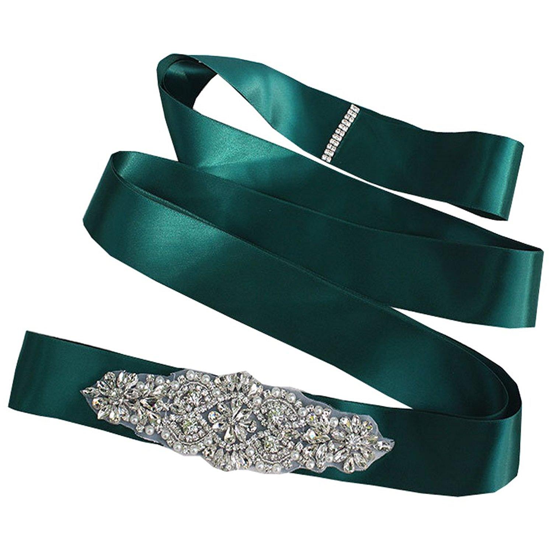 62dae2459 Get Quotations · Women Bridal Wedding Crystal Sparkly Sash Belt Waistband Rhinestone  Belt Sash Dress