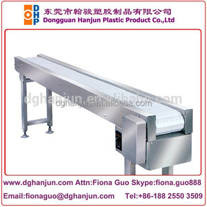 plastic modular conveyor /Flat top plastic modular belt conveyor
