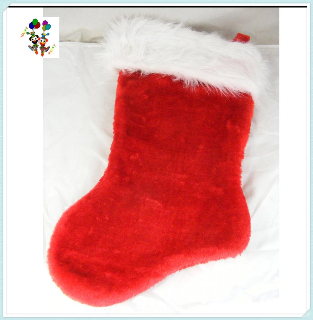 xmas gift plush santa claus christmas stocking with bells hpc 1085