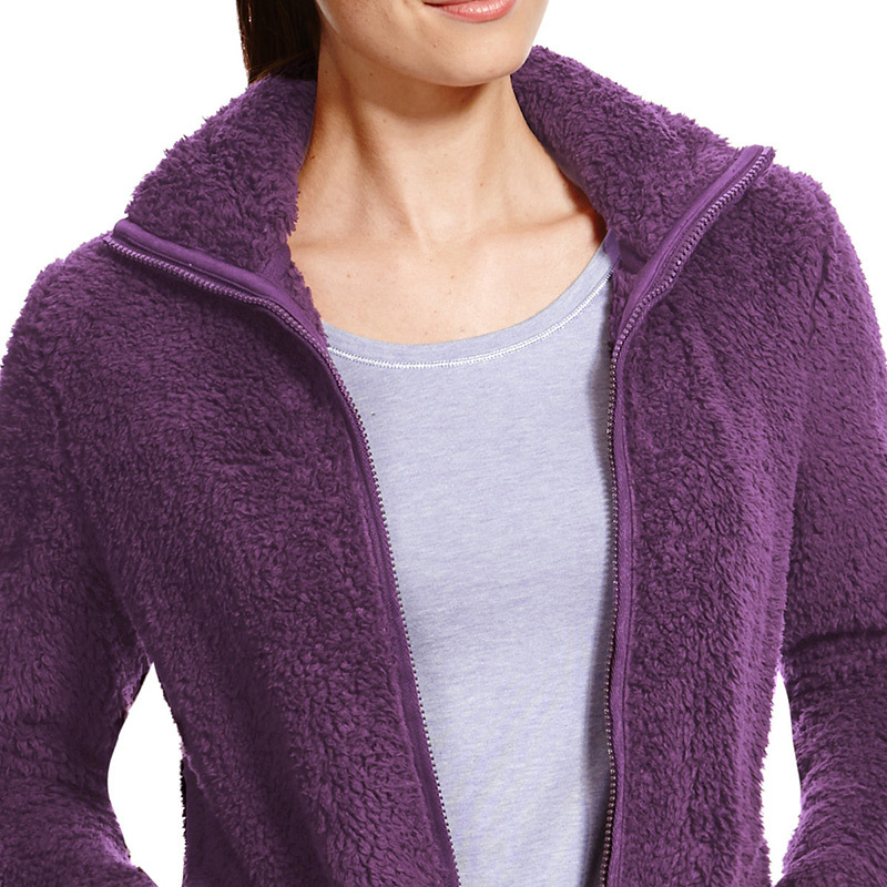 Womens plain fleece jacket zip winter jacket used winter jackets wholesale China