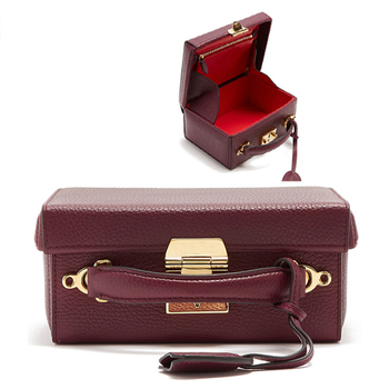 new trendy small pebble grained leather women party handbag lady across body box bag