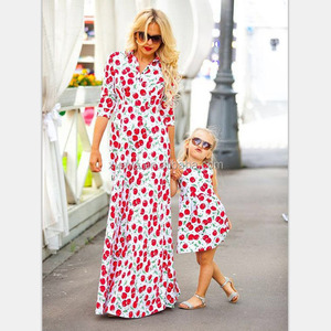 Wholesale boutique colorful baby girl maxi dress