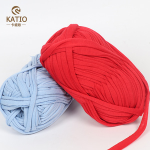 China Fancy Yarn Supplier Cheap Wholesale 100% Polyester Knitting Yarn T shirt Yarn For Crochet Knitting