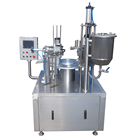 Shanghai Joygoal automatic rotary type milk and yogurt cup filling and sealing machine alcoholic beverage filling machine