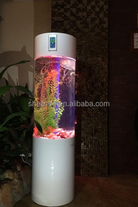 acrylique colonne aquarium d coration de la maison aquarium tube avec led lumi re autres d cors. Black Bedroom Furniture Sets. Home Design Ideas