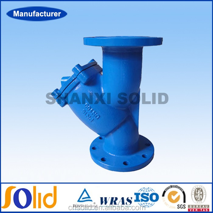 DIN3202 F1 Cast Ductile Iron Y type strainer for Water