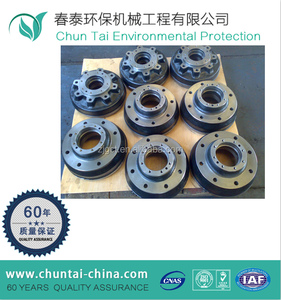 forged CNC machining steel wheel brake drum for forklift