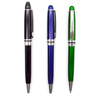 High quality metallic smooth writing twist action plastic ballpoint pen