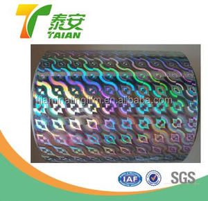 hot sale holographic bopp metalized film for packing & Laser Sexy Holographic thermal lamination Film+EVA Glue