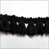 cheap Decorative crochet black and gray cotton lace