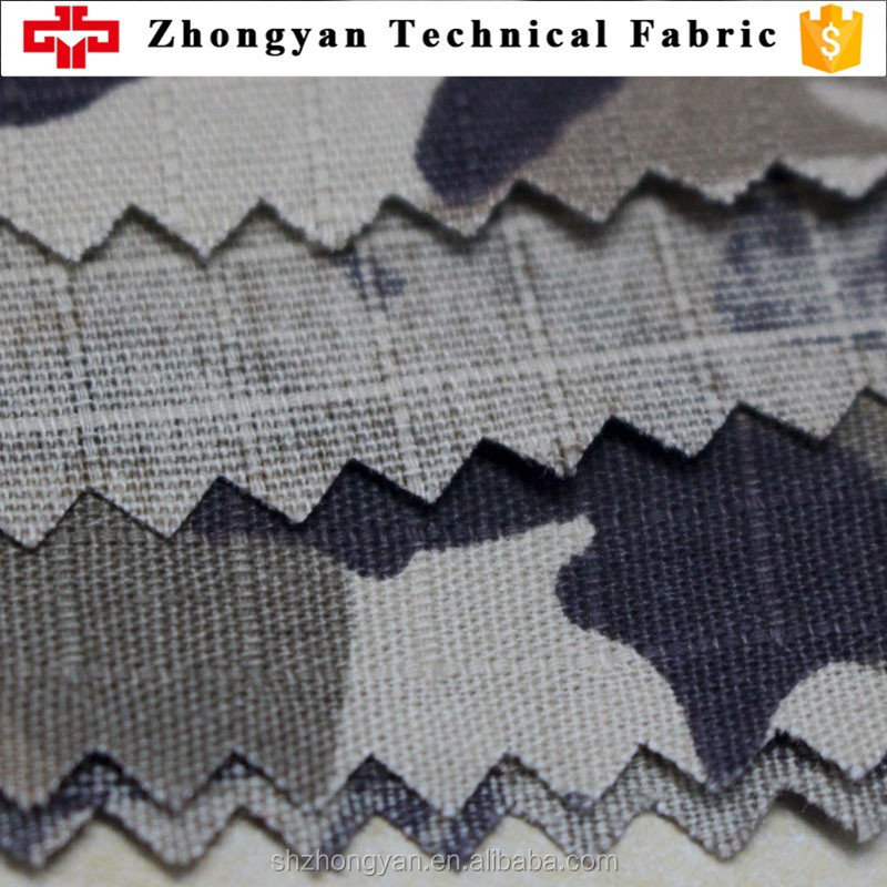Military uniform fabric 100% cotton ripstop fabric