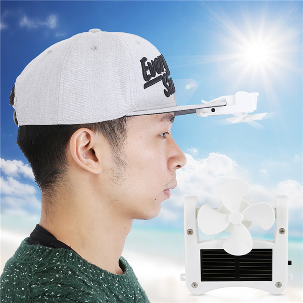 Mini Portable Solar Powered Hat Fan Easy to Hang or Clip for Mountain Climbing Camping Hiking