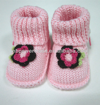 2014 New Born Baby Knitting Socks Shoes Lovely 100%cotton ...