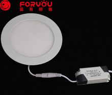 12W Best selling special custom brighten home round led panel light