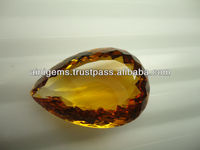 46.55 carat Citrine Pear shape natural gemstone semi precious stones calibrated size fancy stones briollets gems