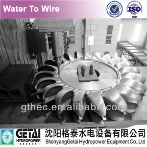 Hydro turbine runner for run off river water turbine upgrade & turbine generator manufacturer made in china from shenyang getai