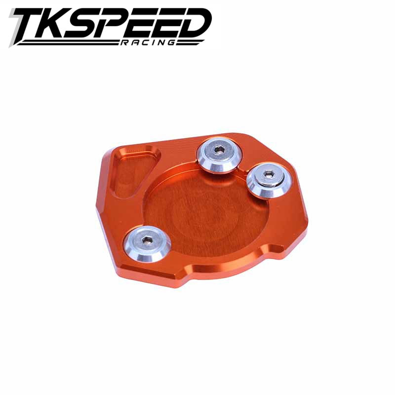 Motorcycle Kickstand Side Stand Extension Enlarger Support Pad Puck Plate <strong>Orange</strong> For KTM DUKE 125/200/390