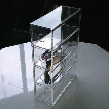 China Supplier Four Tiers Clear Eyewear Glasses Acrylic Sunglasses Storage  Box