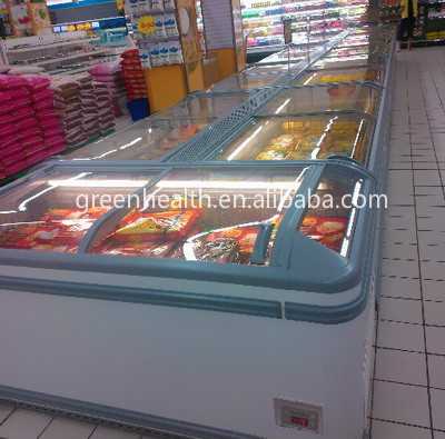 Glass Frozen Food Stand Chest Freezer Deep Freezer Price Used Deep Freezers for Sale