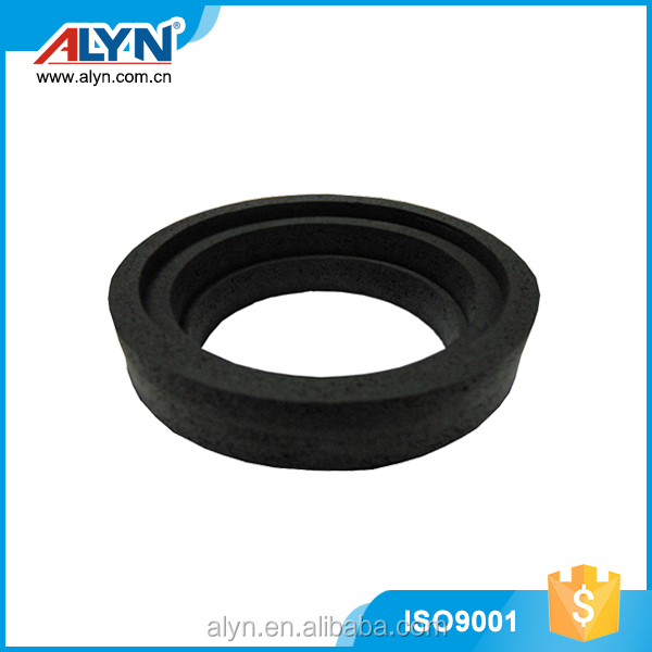 Different size black bowl gasket toilet rubber adhesive seal