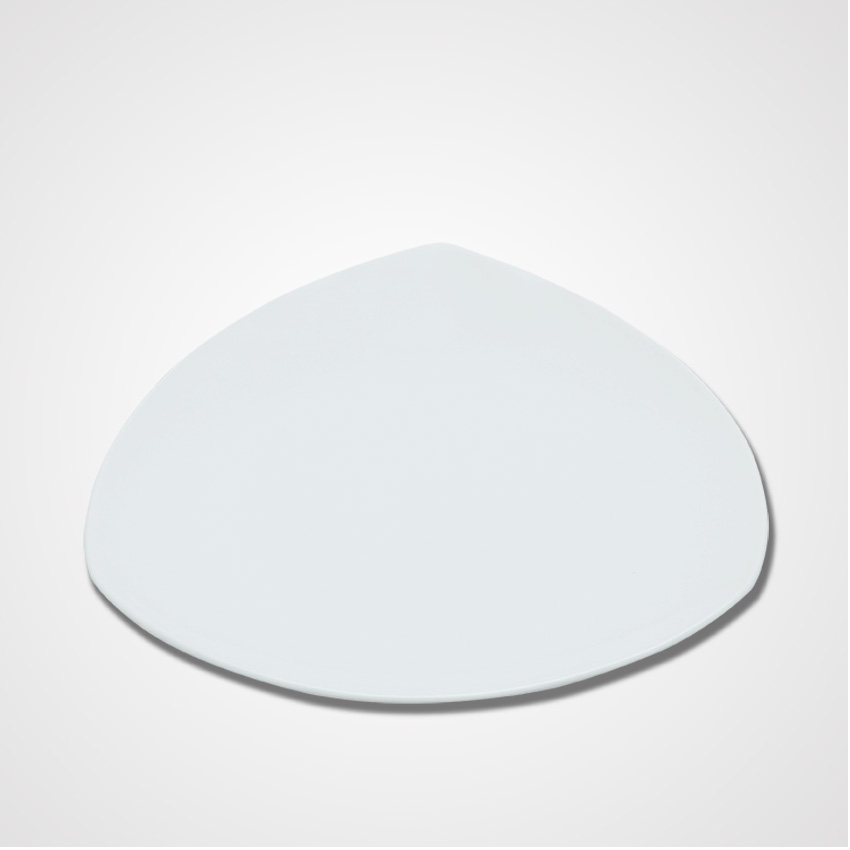 Factory Price Porcelain Wedding Super White Triangle Plates