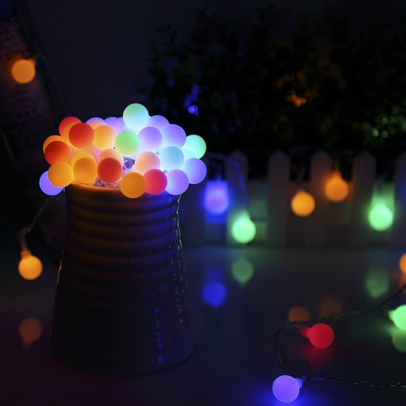 holiday decorative LED pearl bubble lights string ball light