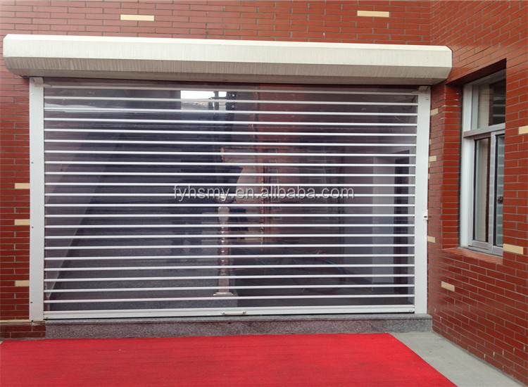 Polycarbonate Transparent Rolling Shutter Door Front Shop