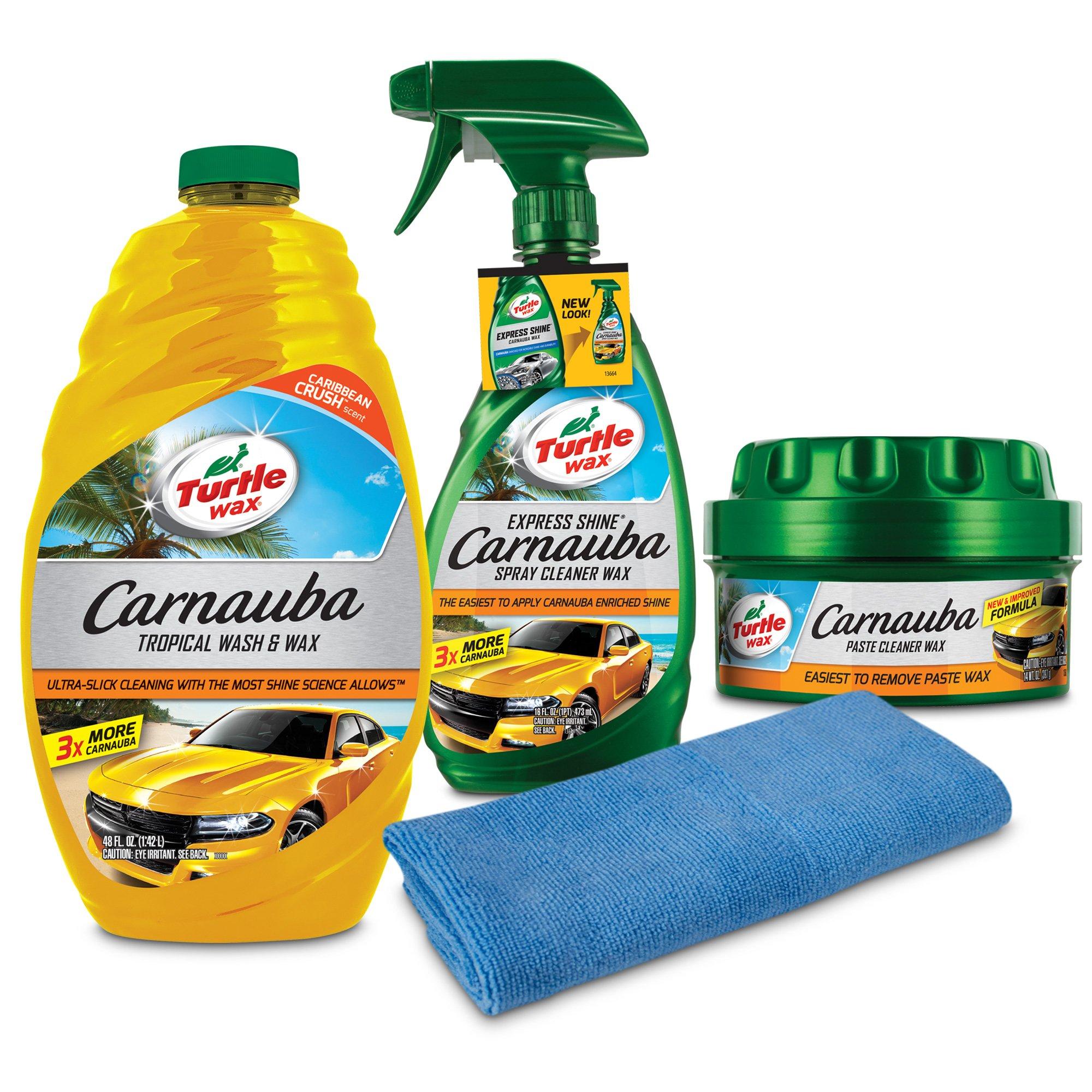 Turtle Wax 50825 Complete Carnauba Wash and Wax Kit