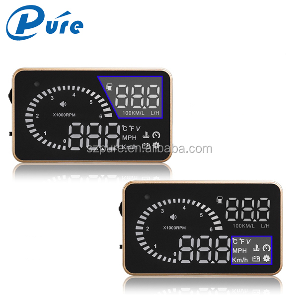 "Wholesale universal 3""obd2 head up display speed warning system head up display projector, speedometer"