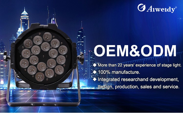 Guangzhou stage lighting equipment led cobb outdoor battery led 18*18w matrix par light led flat par can light