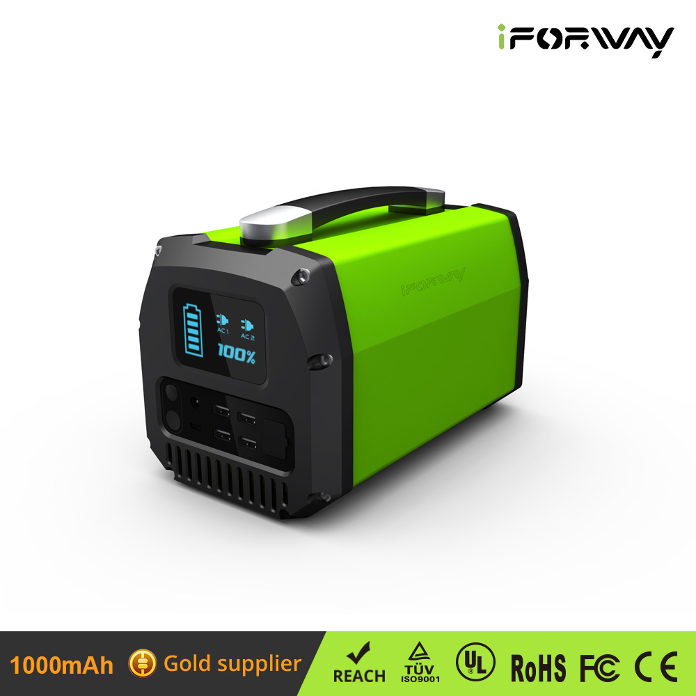 iForway 124800mAh Huge Capacity 300W Backup Portable Solar Generator Power Source UPS Solar System