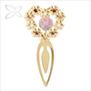 Crystocraft Elegant Gold Plated Crystals Heart shape Metal Bookmark clip Decorated with Crystals from Swarovski Gifts